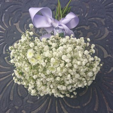 Gypsophylla wedding bouquet
